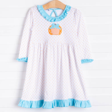 Magnolia Baby Sweetest Pumpkin Applique Dress