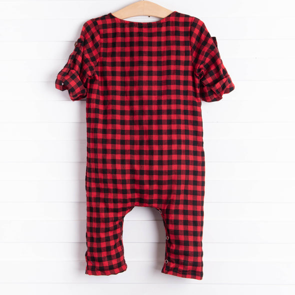 Emma Jean Easton Romper, Red Buffalo Check