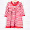 Magnolia Baby Rudolph Applique Dress, Red