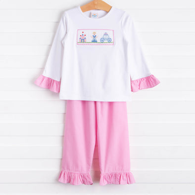 Fairytale Princess Smocked Tunic Set, Pink Gingham