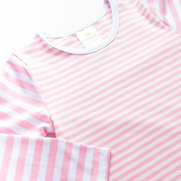 Claire, Pink Stripe Dress