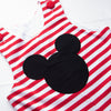 Mr. Mouse Applique Long Jon Jon, Red