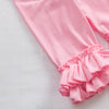 Girls Ruffle Shorties, Light Pink