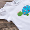 Stitchy Fish Turtle Applique Shirt