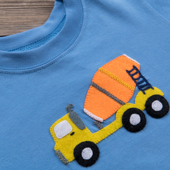 Luigi Kids Concrete Truck Boys Shirt