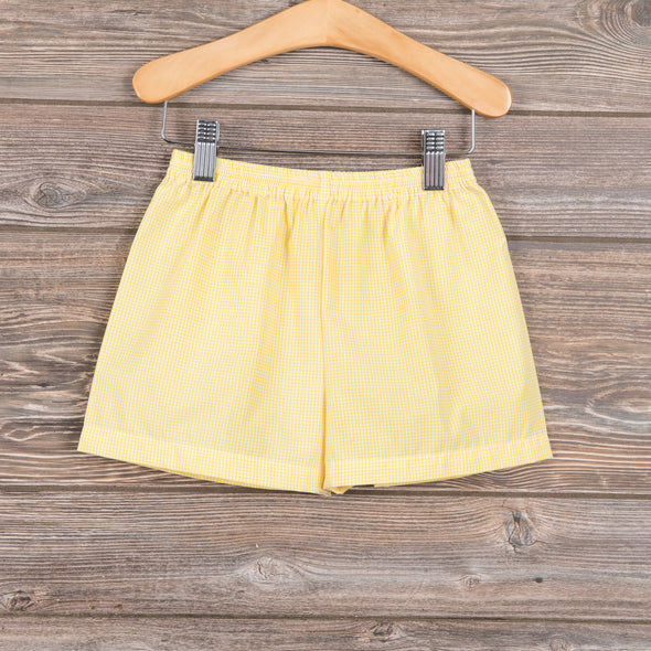 Lullaby Set Yellow Gingham Shorts