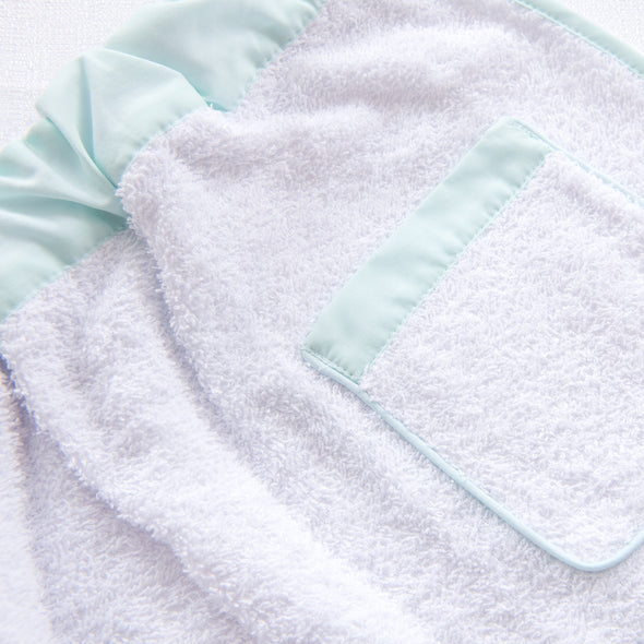 Lullaby Set White with Mint Trim Towel