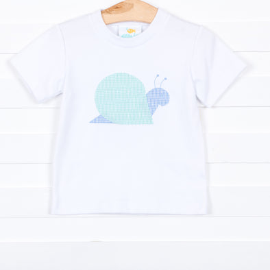 Stitchy Fish Boys Applique Shirt - Snail