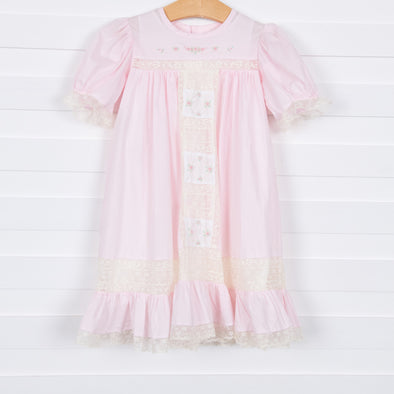 Amelia Heirloom Dress, Pink