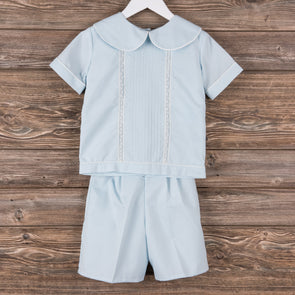 Treasured Memories Tripp Short Set, Blue