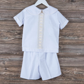 Pre-Order Treasured Memories Boys Heirloom Enoch Shorts Set (3 Styles)