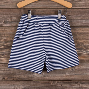 Knit Boy Pocket Shorts, Stripe (3 Colors)