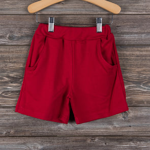 Knit Boy Pocket Shorts, Solid (3 Colors)