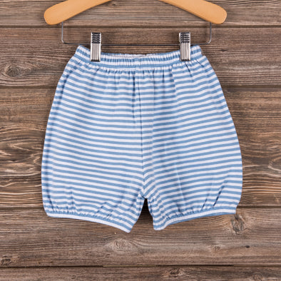 Knit Boy Bloomer Shorts, Stripe (3 Colors)