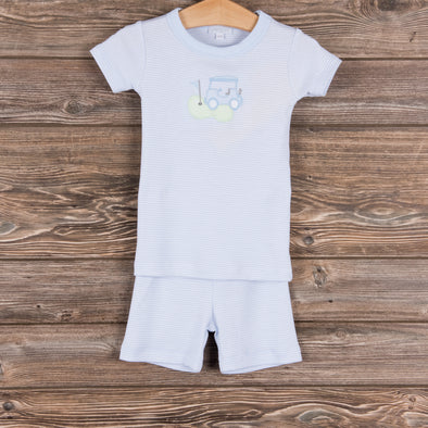 To a Tee Boys Pajamas, Blue Stripe