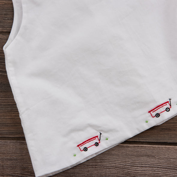Little Red Wagon Diaper Set