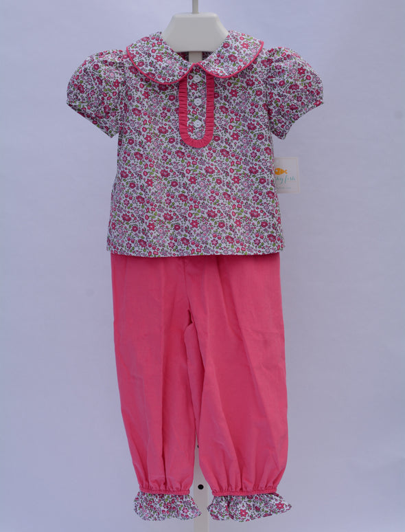 SAMPLE Stitchy Fish Lizzy Pant Set