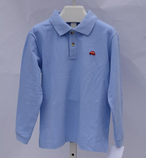 Stitchy Fish Blue Polo with Car Embroidery