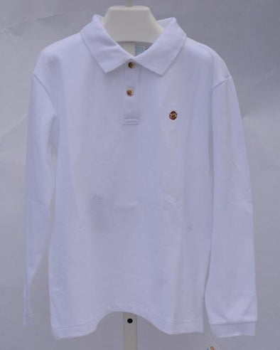 Stitchy Fish White Polo/Football Embroidery
