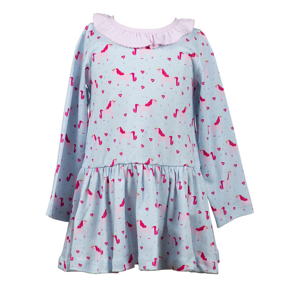 The Proper Peony Lula Unicorn Ruffle Dress