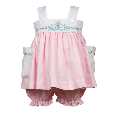 The Proper Peony Raleigh Ribbon Bloomer Set