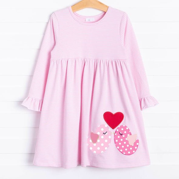 Love Birds Applique Dress