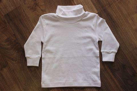 Stitchy Fish Boys Turtleneck - White