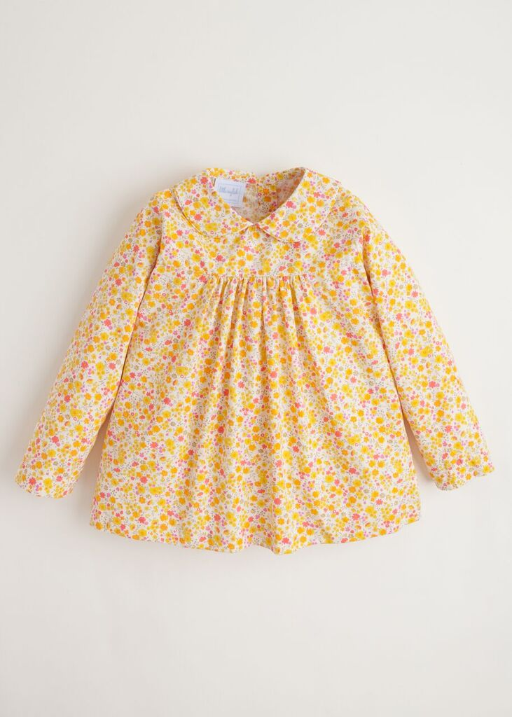 Little English Marigold Floral Dunn Blouse