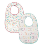 Petit Pehr- Set of 2 Bib Pack (Alphabet and MultiDots, Noah's Ark and Painted Dots)