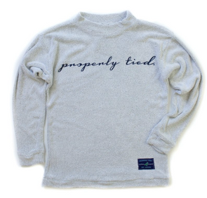 Properly Tied Printed Rag Crew Pullover