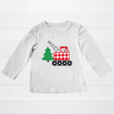 Freshly Cut Christmas Tree Applique T-Shirt