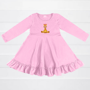 Stand Tall Pink Giraffe Dress