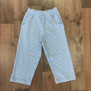 Stitchy Fish Light Blue Stripe Knit Straight Pant
