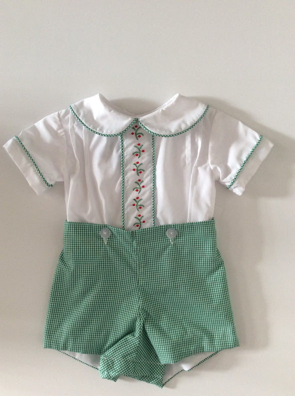 Anvy Kids Boys Button On Short (2 Color Options)