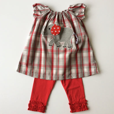 Elephant Applique Dress/Leggings