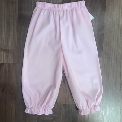 Stitchy Fish Light Pink Pique Bloomer Pant w/Ruffle