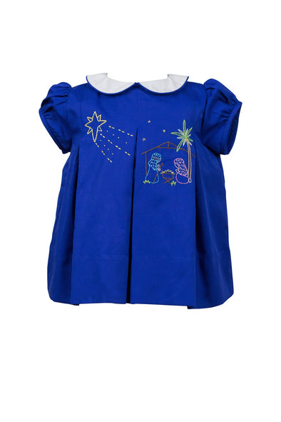 The Proper Peony Navy Nativity Dress