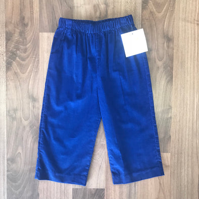 Stitchy FIsh Boys Straight Pant w/ Pocket-Navy Cord
