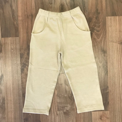 Stitchy Fist Boys Khaki Knit Straight Pants