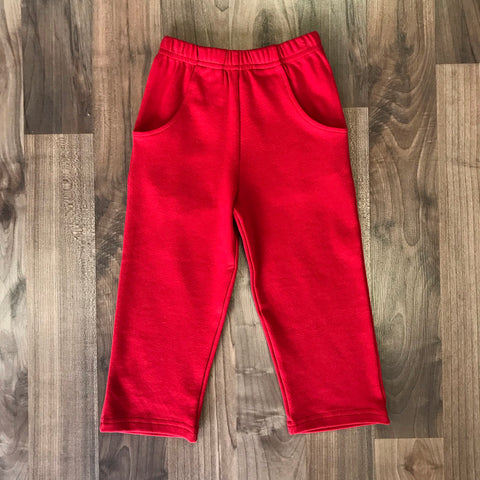 Stitchy Fish Boys Red Knit Straight Pant