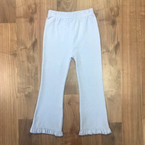 Stitchy Fish Sky Blue Knit Flare Pants