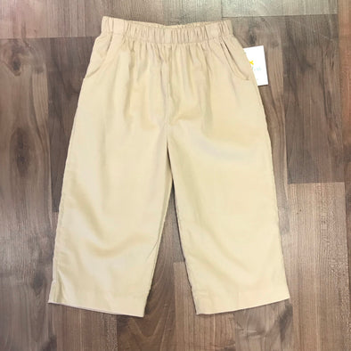 Stitchy Fish Boys Khaki Cord Straight Pants