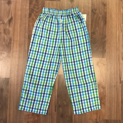 Stitchy Fish Plaid Straight Pants