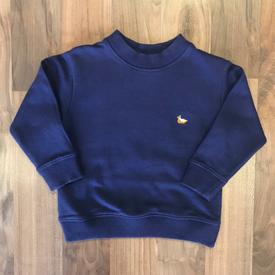 Stitchy Fish Boys Sweatshirt Navy w/Mallard