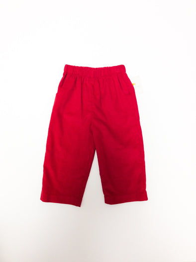 Stitchy Fish Boys Straight Pants- Red Cord