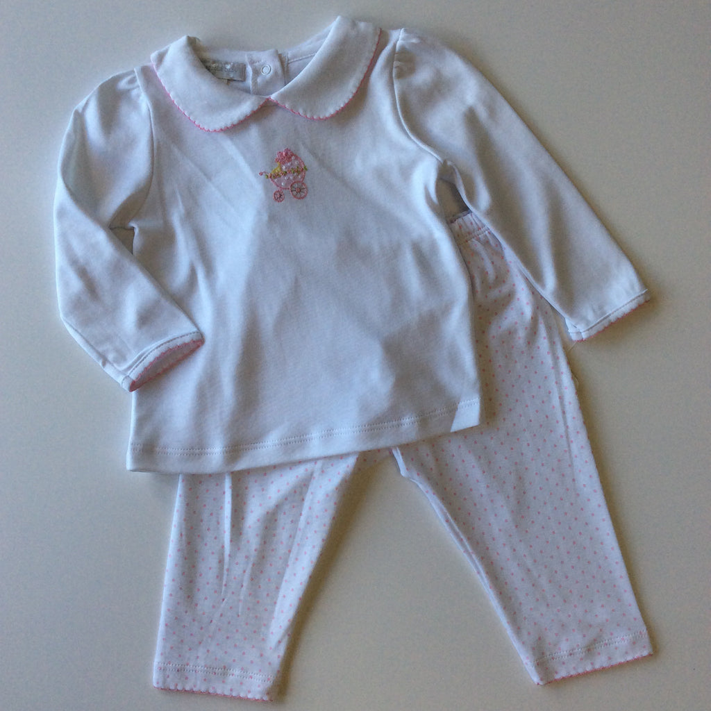 Magnolia Baby Vintage Pram Embroidered Pant Set
