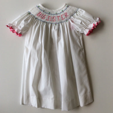 Big Sister Smocked Bishop Dress