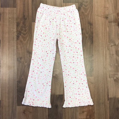 Stitchy Fish Floral Knit Flare Pants