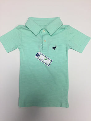Properly Tied Cotton Slub Polo Seafoam