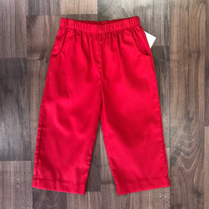 Stitchy Fish Red Pique Straight Pant